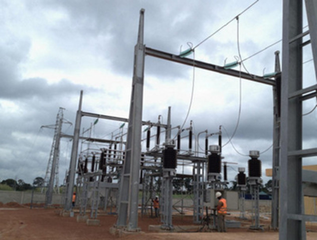 Process plant 91KV substation (CNW Group/Endeavour Mining Corporation)