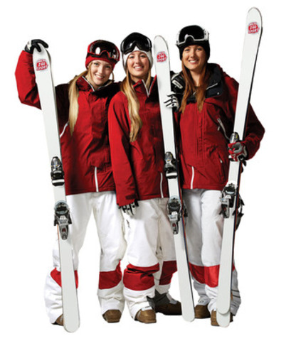 Justine, Chloé and Maxime Dufour-Lapointe will once again get a boost from Milk 2 Go Sport in their quest to solidify their status among the world'?s elite in moguls freestyle skiing. (CNW Group/Milk2Go Sport)
