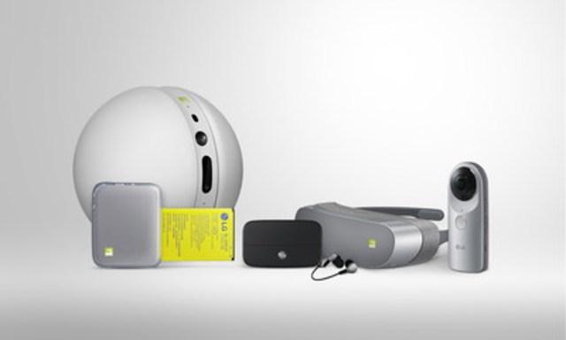 Accompagné de la gamme LG Friends, une collection de dispositifs complémentaires, le LG G5 peut se transformer en appareil photo numérique, en lecteur haute fidélité et plus encore. (Groupe CNW/LG Electronics Canada)