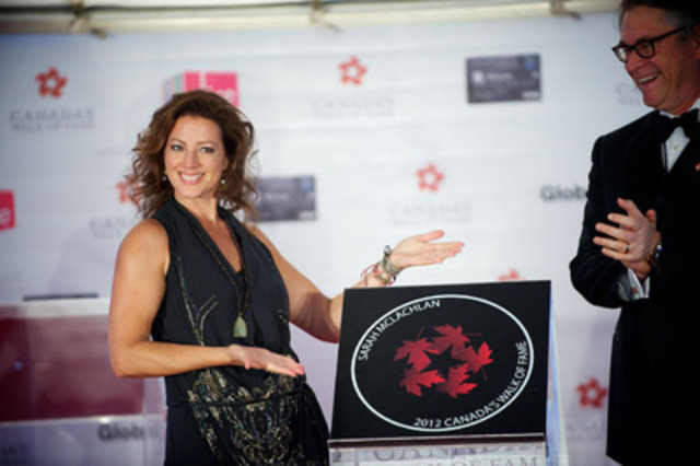 Sarah McLachlan receives her Canada's Walk of Fame induction at the Ed Mirvish Theatre in Toronto on Saturday, September 22, 2012. (CNW Group/Canada's Walk of Fame)