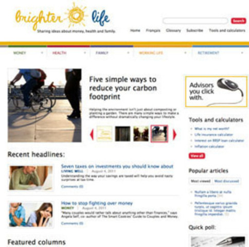 BrighterLife.ca asks Canadians to share ideas about money, health and family (CNW Group/Sun Life Financial Inc.)