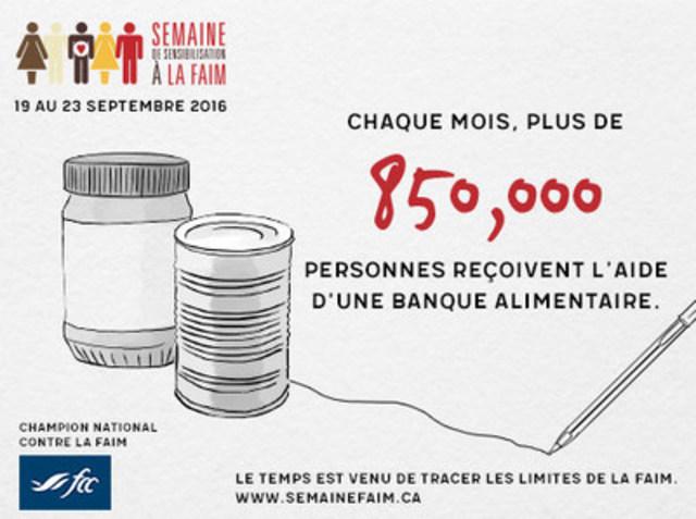 Semaine de sensibilisation à la faim (Groupe CNW/Banques alimentaires Canada)