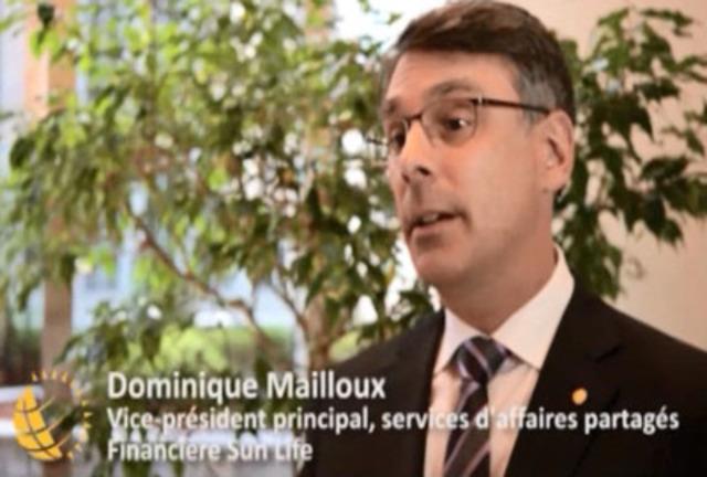 Vidéo: «La Financière Sun Life est fière d'être vue comme une entreprise citoyenne de premier plan, affirme Dominique Mailloux, vice-président principal, services d'affaires partagés, Financière Sun Life.»