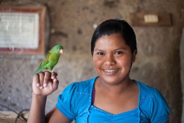 Jesenia, 15, from Nicaragua is in school and has a better future thanks to her sponsors, John and Lisa of Cambridge. (CNW Group/World Vision Canada)