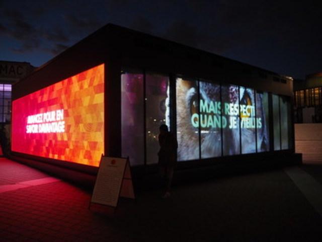 L'expérience artistique interactive de la marque Kia, conçue pour faire participer les visiteurs et les surprendre, a été dévoilée à la Place des Arts de Montréal les 23 et 24 septembre 2016 (Groupe CNW/KIA Canada Inc.)
