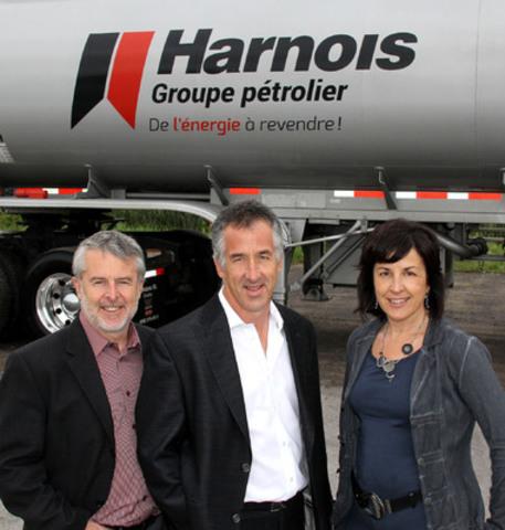 Luc, Serge et Claudine de Harnois groupe pétrolier (Groupe CNW/Harnois Groupe pétrolier)