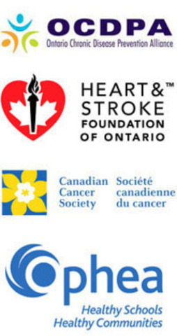 Ontario Chronic Disease Prevention Alliance; The Heart and Stroke Foundation; The Canadian Cancer Society; Ophea. (CNW Group/ Heart and Stroke Foundation of Ontario)