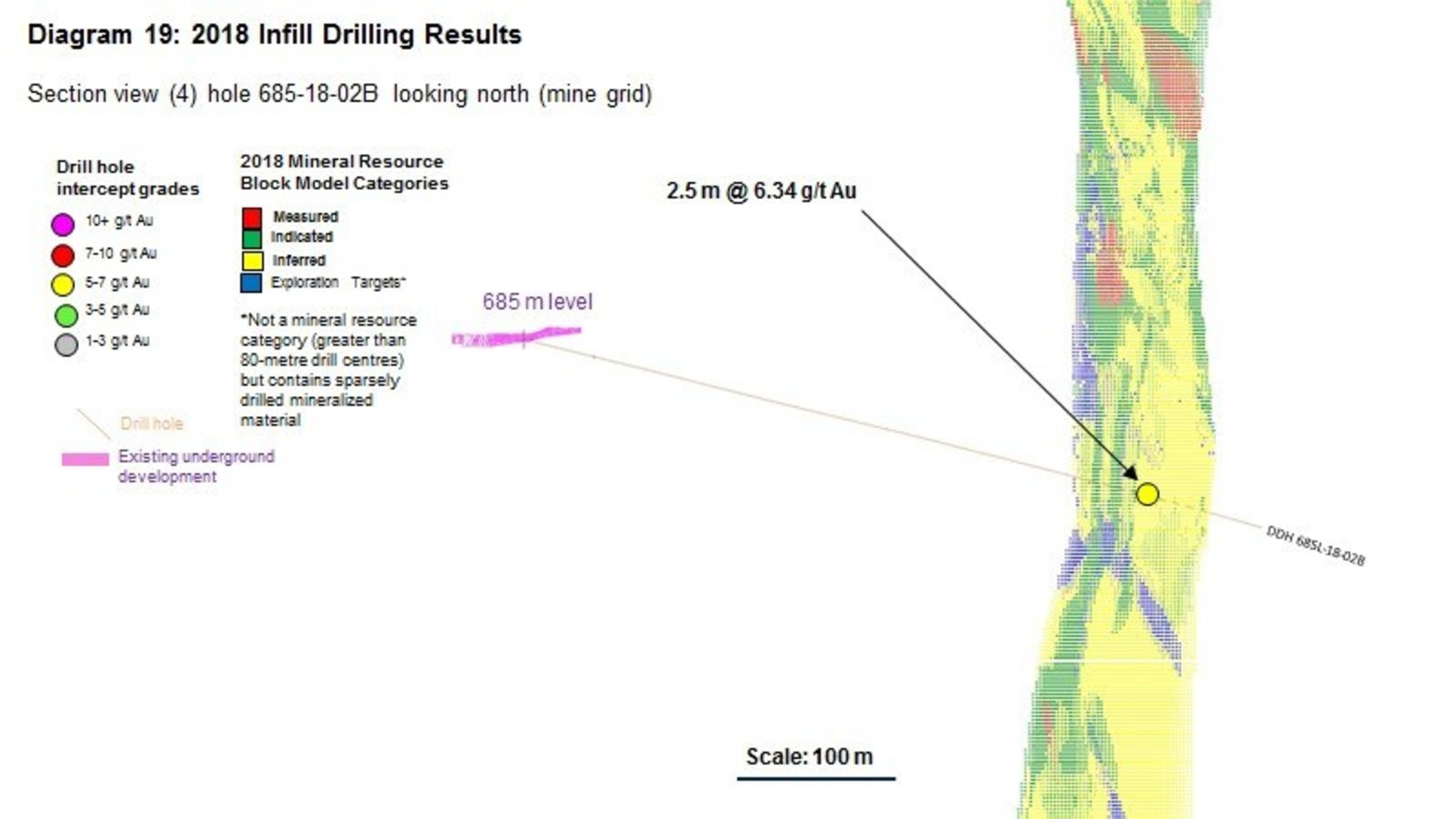 Diagram 19 : 2018 Infill Drilling Results