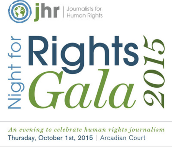 Journalists for Human Rights and Night for Rights 2015 (CNW Group/Journalists for Human Rights (JHR))