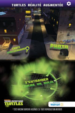 Application Teenage Mutant Ninja Turtles « Turtles Augmented Reality » de Nickelodeon est disponible en anglais et français (Groupe CNW/Walmart Canada)