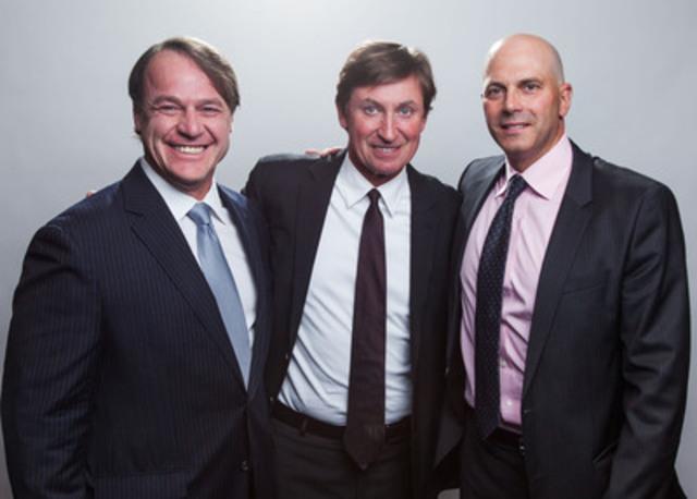 (de gauche à droite) Sylvain Brosseau, président et chef de l'exploitation, Corporation Fiera Capital, Wayne Gretzky et Paul Vaillancourt, vice-président principal et directeur général, Gestion privée - Ouest du Canada, Corporation Fiera Capital (Groupe CNW/Corporation Fiera Capital)