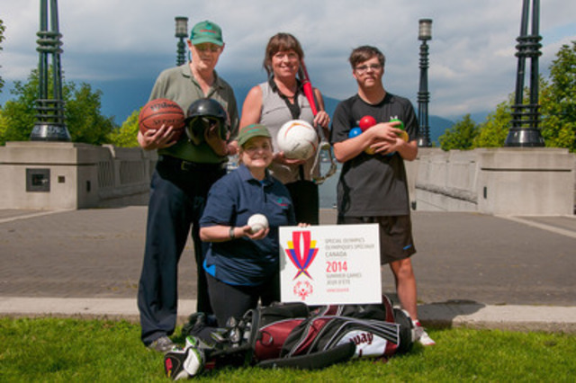 Special Olympic Canada 2014 Summer Games Chair, Cathy Priestner Allinger along with Special Olympics athletes ...