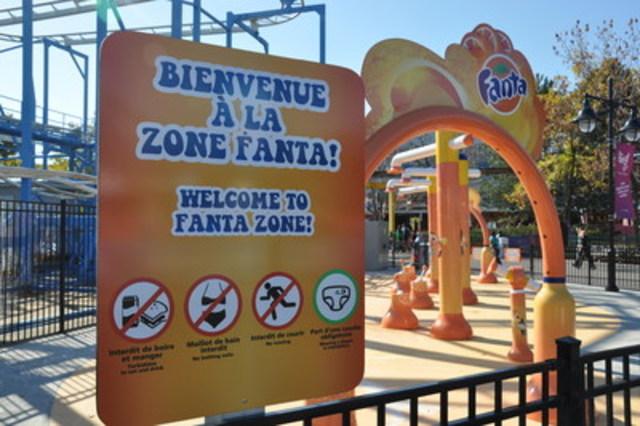 Zone Fanta, La Ronde 2013. (Groupe CNW/Coalition québécoise sur la problématique du poids)