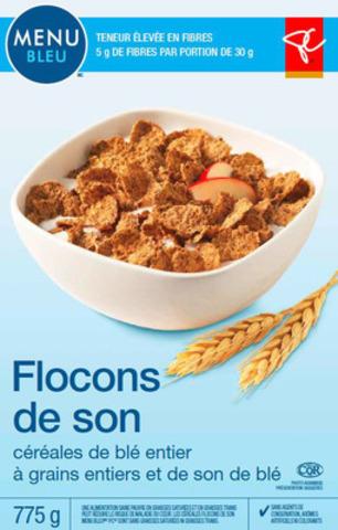 Céréales Flocons de son le Choix du Président Menu bleu 775 g (Groupe CNW/Les Compagnies Loblaw limitée)