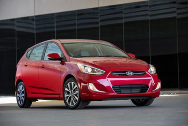 La marque Hyundai s'est classée au quatrième rang pour la deuxième année consécutive alors que la sous-compacte Accent (photo) et le VUS compact Tucson dominent leur segment dans l'étude sur la qualité initiale 2015 menée par J.D. Power aux É.-U. Hyundai a investi dans la qualité de ses véhicules en mettant en place une salle destinée à la situation de la qualité globale qui permet aux ingénieurs de surveiller et de régler en temps réel des problèmes de qualité 24 heures par jour, 365 jours par année. (Groupe CNW/Hyundai Auto Canada Corp.)
