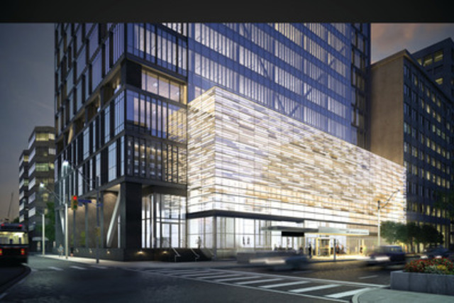 Exterior rendering of the Residences of 488 University Ave. (CNW Group/Amexon Development Corporation)