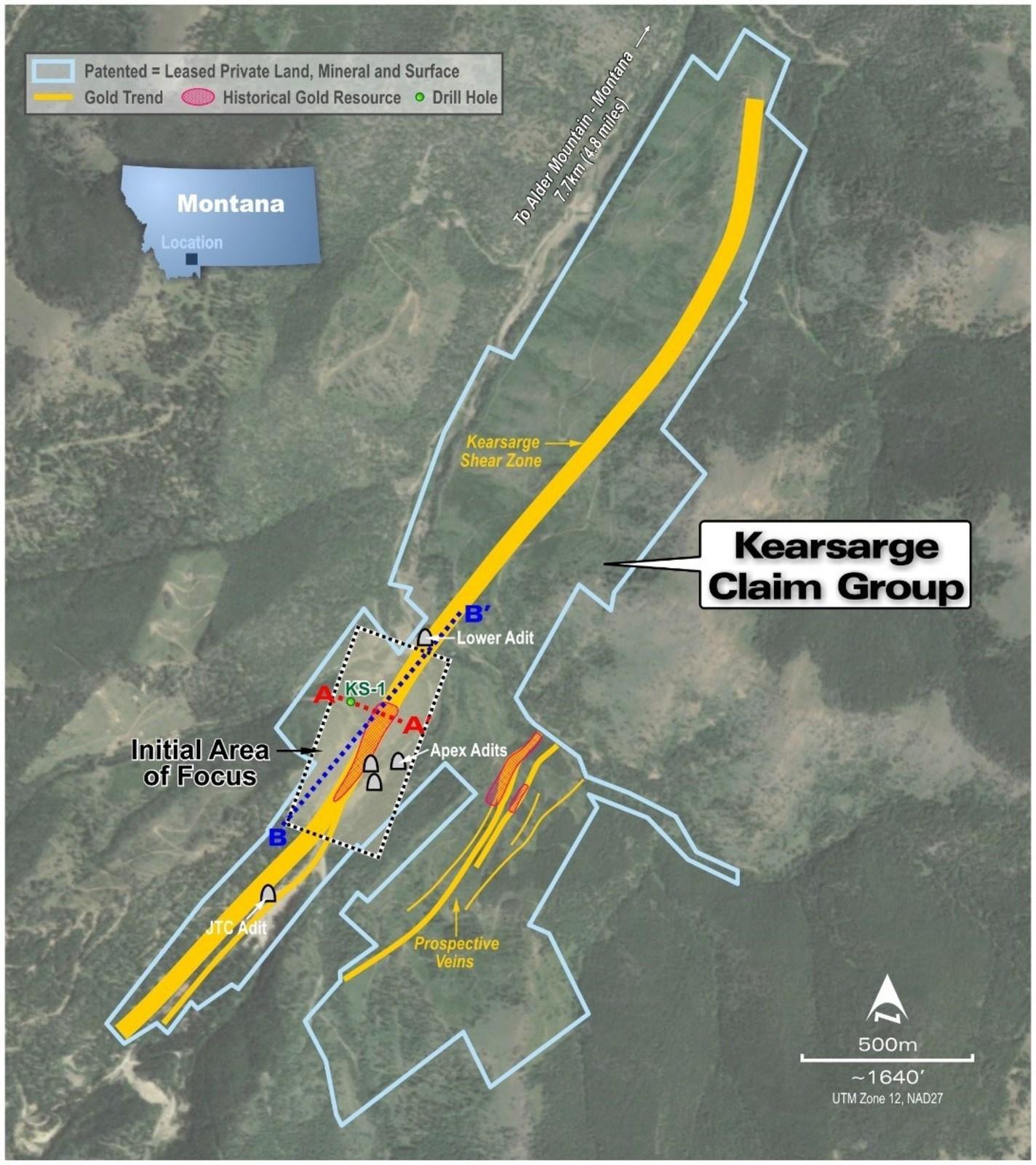 Figure 1: Kearsarge Leases including Initial Area of Focus