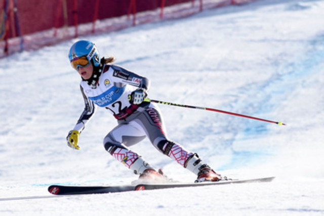 The Canadian Para-Alpine team continued to push hard on Saturday during the 2015 IPC Alpine Skiing World Championships in Panorama, B.C., with Toronto's Erin Latimer leading the team with a 7th place finish in the women's Super Combined (standing) event. (CNW Group/Canadian Paralympic Committee (CPC))