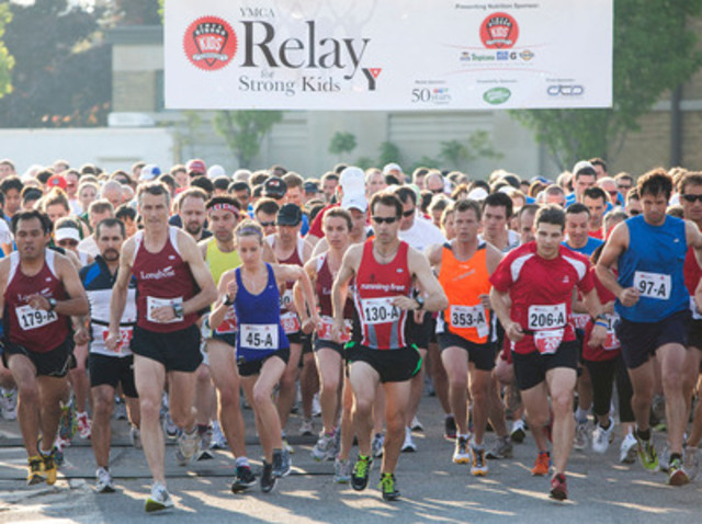 More than 505 teams participated in the 31st annual YMCA Relay for Strong Kids on Tuesday evening at Exhibition Place. (CNW Group/YMCA of Greater Toronto)