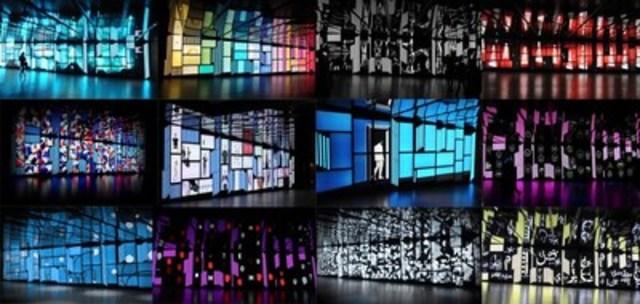 Mosaïque d'écrans de l'Espace culturel George-Émile-Lapalme de la Place des Arts. (Groupe CNW/Place des arts)