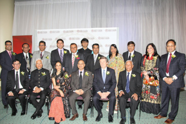2015 Recipients of the Indo-Canada Chamber of Commerce (ICCC) Annual Awards. President D.P. Jain, Indo-Canada Chamber of Commerce (ICCC) Annual Awards; Chief Guest: John Tory, Mayor, City of Toronto; Keynote Speaker: Mr. Asim Gosh, President and CEO of Husky Energy; Excel Funds Management Sponsor Award Winner: Dr. Neeru Gupta (CNW Group/Excel Funds Management Inc.)