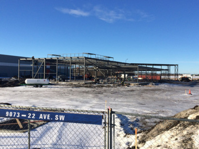 A view of the Endress+Hauser Regional Customer Support Centre under construction at 91st Street, Gateway Business Park, Edmonton (CNW Group/Endress+Hauser)