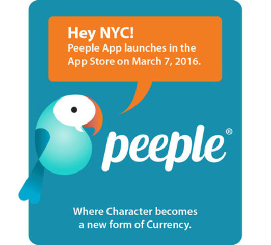 Social reputation app Peeple launching North America wide. www.forthepeeple.com (CNW Group/Peeple App (Peep Inc.))