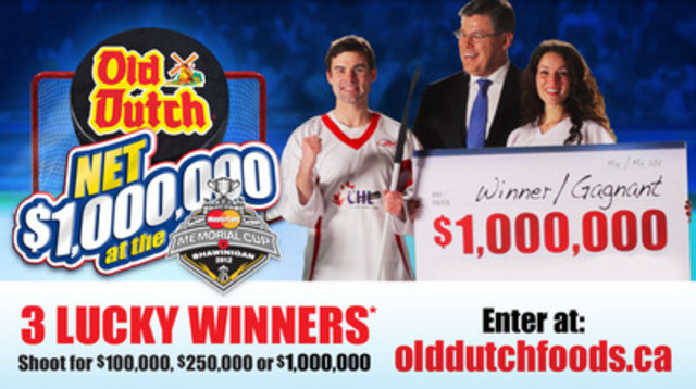 Old Dutch Foods offers over $1.3 million in hockey shoot-out (CNW Group/Old Dutch Potato Chips) (CNW Group/Old Dutch Foods Ltd. )