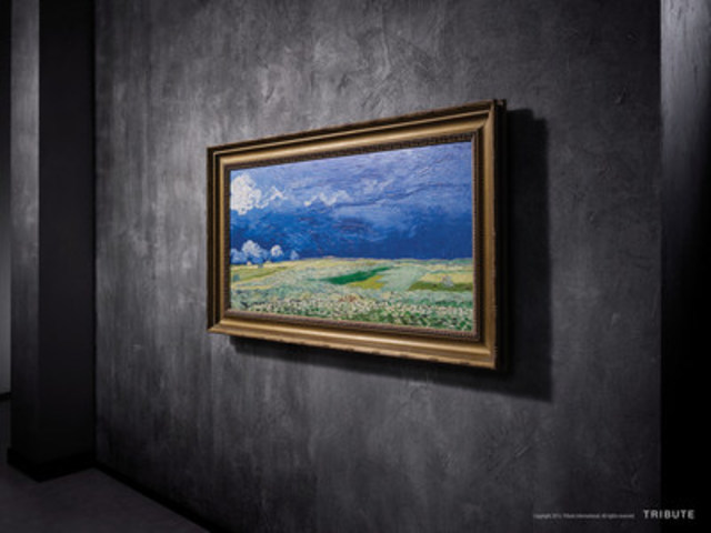 """Wheatfield Under Thunderclouds,"" by Vincent Van Gogh, masterfully re-created by a process called Reliefography in full three-dimensional, high-quality detail that resembles the original work as closely as possible. (CNW Group/Southgate Centre)"