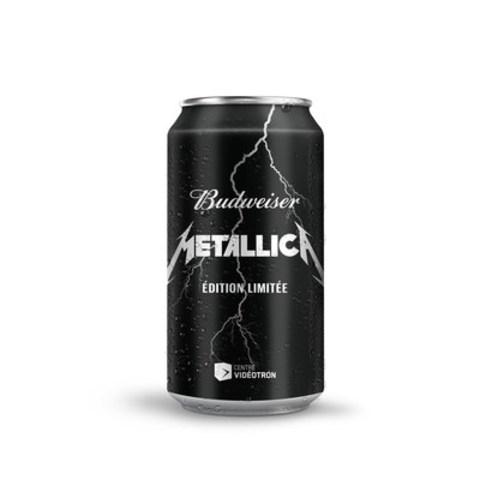 La Budweiser « Coulée dans le Rock » Metallica, embouteillée après le concert, sera offerte au Québec en édition limitée dès le 28 septembre 2015. (Groupe CNW/BUDWEISER)