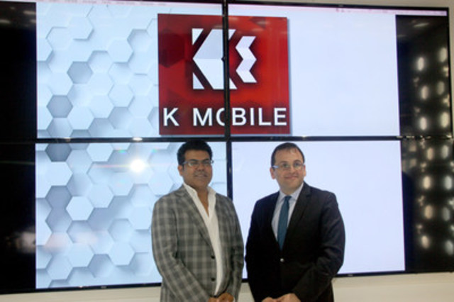 K-Mobile CEO Shami Munir welcomes Turkey's Consul General to the first GTA store (CNW Group/K-Mobile)