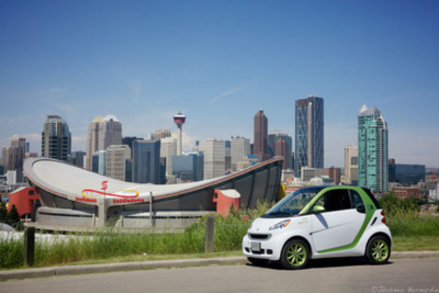 La smart fortwo electric drive à Calgary (Alberta). (Groupe CNW/Mercedes-Benz Canada Inc.)