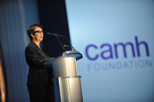 CAMH President, Catherine Zahn, speaks to guests at the Bell Event last night (CNW Group/BELL CANADA)