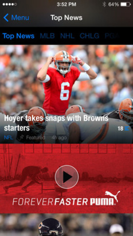 An example of a video enabled Forever Faster ad running within theScore's mobile news feed. (CNW Group/theScore, Inc.)