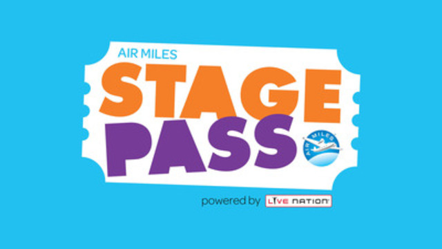 AIR MILES® Stage Pass gears up to rock Canadians (CNW Group/AIR MILES Reward Program)