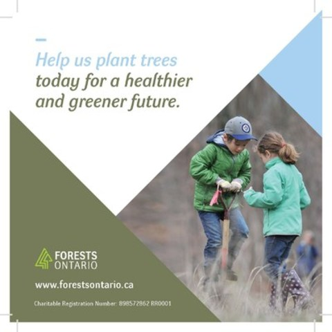 Look for this card on donation boxes at over 650 LCBO locations across Ontario and donate to tree planting efforts! Funds raised through the Provincial Donation Box Program will help Forests Ontario plant and manage three million trees across the province. (CNW Group/Forests Ontario)