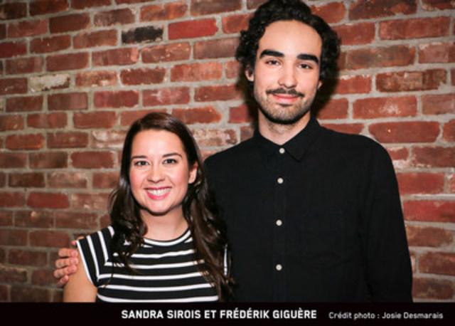 Sandra Sirois et Frédérik Giguère - Crédit photo :  Josie Desmarais (Groupe CNW/MAtv)