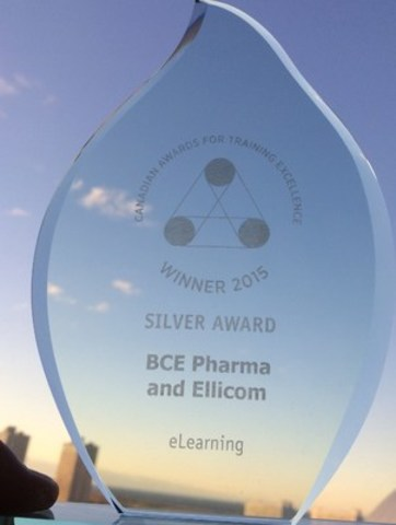 Award received in Toronto on November 19th, 2015 (CNW Group/BCE Pharma)
