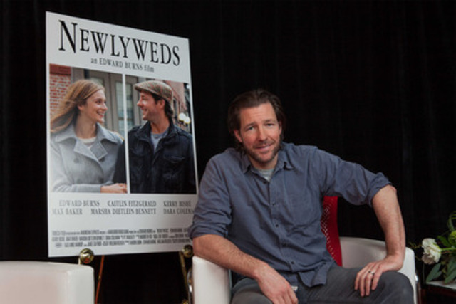 Actor Ed Burns visited Toronto today to promote the availability of his new film Newlyweds and Tribeca Film titles to Rogers On Demand and Rogers Anyplace TV's movie lineup, providing a new platform for independent productions and introducing audiences to films they might not otherwise see. (CNW Group/Rogers Communications Inc.)