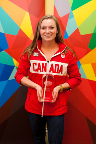 Canada's gold medallist in London, trampoline athlete Rosannagh MacLennan, is the new recipient of the Birks Canadian Diamond award. The Birks Canadian Diamond serves to recognize Canadians whose talent and accomplishments have allowed Canada to be celebrated on the international stage. (CNW Group/BIRKS & MAYORS INC.)