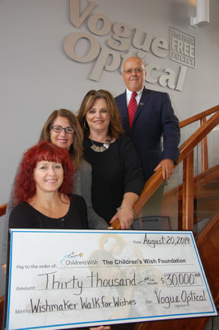 Vogue Optical is the Presenting Sponsor for Wishmaker Walk for Wishes for the Atlantic Provinces (CNW Group/The Children's Wish Foundation of Canada)