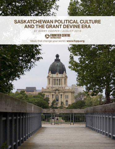 Saskatchewan and the Devine Era (CNW Group/Frontier Centre for Public Policy)