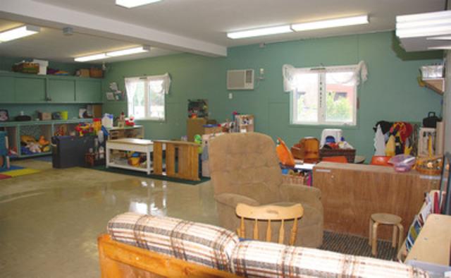 Photo de la salle de classe avant les rénovations. (Groupe CNW/UPS Canada Ltee.)