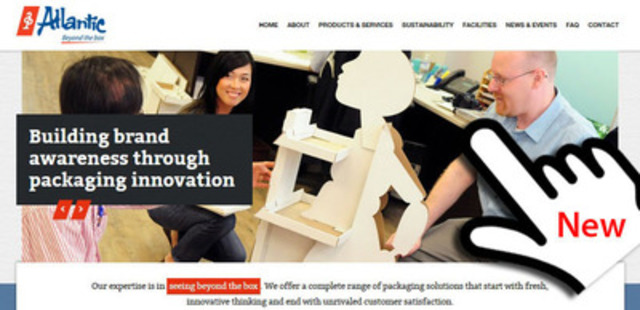 Atlantic's New Website (CNW Group/Atlantic Packaging Products)