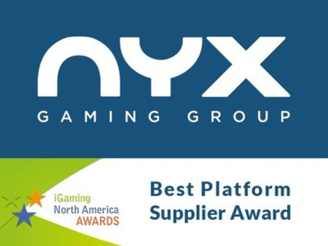 NYX Gaming Awarded Best Platform Supplier at 2016 iGaming North America Awards (CNW Group/NYX Gaming Group Limited)