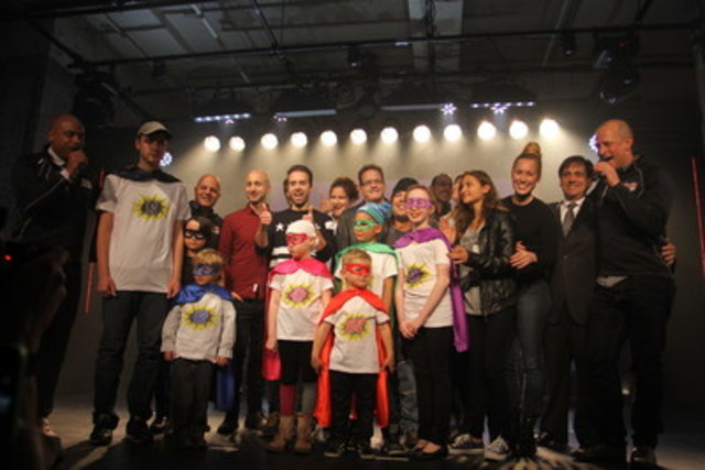Yesterday,  the launch of the 15th edition of Tremblant's 24h took place at the Société des arts technologiques of Montreal. Several celebrities and children sponsored by the event joined the skiers, walkers and runners who will participate to this fundraising event. (CNW Group/Tremblant's 24h)