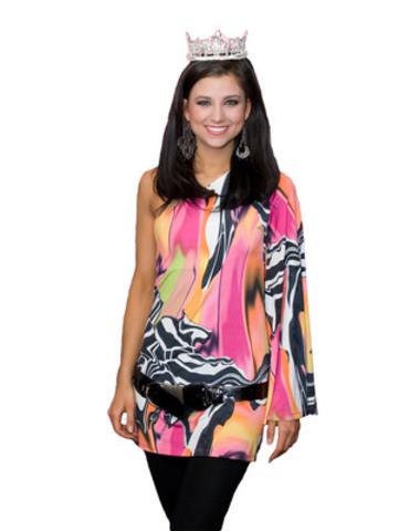 Laura Kaeppeler, the new Miss America 2012 Wears Canadian designer Joseph Ribkoff. (CNW Group/Joseph Ribkoff)