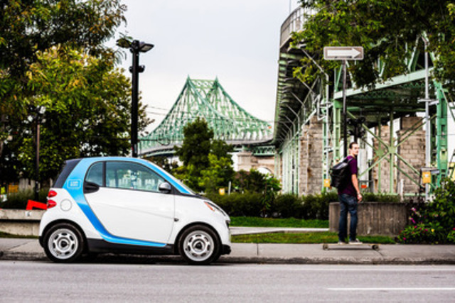 car2go autopartage Introduces a New Way of Carsharing in Montreal. (CNW Group/car2go Canada Ltd.)