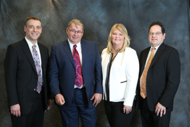 Hatch and First Pac West leaders at the joint venture agreement signing event on March 11, 2015 at Hatch's head office in Mississauga, Ontario, Canada. L to R: John Bianchini, Chief Executive Officer, Hatch; Peter Molander, Chief Executive Officer, First Pac West; Tammy Monsell, President, First Pac West; Robert Francki, Global Managing Director, PDG Group, Hatch (CNW Group/HATCH)
