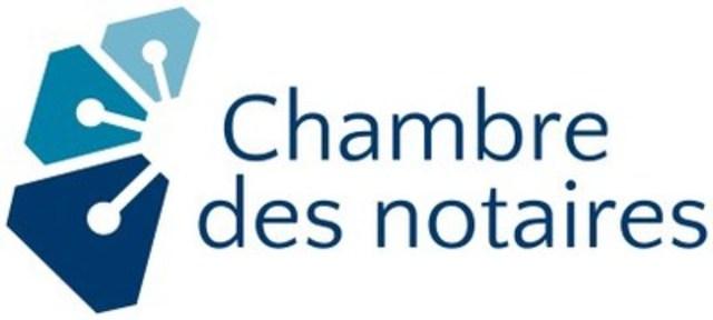 Logo : Chambre des notaires du Québec (Groupe CNW/Chambre des notaires du Québec)